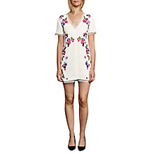 Buy French Connection Jude Sequin Short Sleeved Dress, Summer White/Multi Online at johnlewis.com