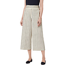 Buy L.K. Bennett Jen Stripe Detail Culottes, White/Navy Online at johnlewis.com
