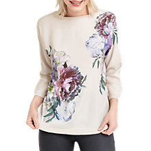 Buy Oasis Wild Heart Woven Mix Jumper, Lilac Online at johnlewis.com