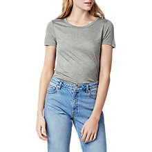 Buy Warehouse Casual T-Shirt, Grey Online at johnlewis.com