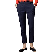 Buy Warehouse Compact Cotton Trousers Online at johnlewis.com