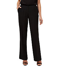 Buy Jaeger Crepe Trousers, Black Online at johnlewis.com