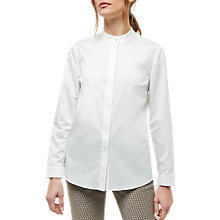 Buy Jaeger Curved Hem Blouse, White Online at johnlewis.com