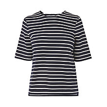 Buy L.K. Bennett Ana Stripe Jersey Top, Sloane Blue Online at johnlewis.com