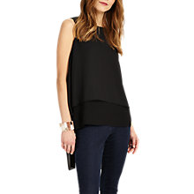 Buy Phase Eight Lottie Split Back Blouse, Black Online at johnlewis.com