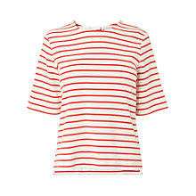 Buy L.K. Bennett Ana Stripe Box Top, Aurora Red Online at johnlewis.com