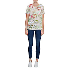 Buy French Connection Bluhm Botero Crepe Tunic Top, Summer White/Multi Online at johnlewis.com