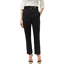 Buy Jaeger Wool Metal Bar Detail Trousers, Black Online at johnlewis.com