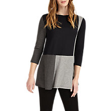 Buy Phase Eight Celia Collar Top, Navy/Silver Online at johnlewis.com