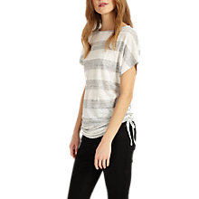 Buy Phase Eight Susan Slub Top, Grey/Ivory Online at johnlewis.com