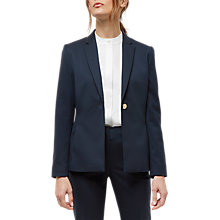 Buy Jaeger Wool Gold Button Blazer, Navy Online at johnlewis.com