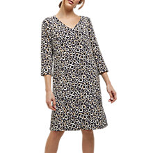 Buy Jaeger Silk Spot Animal Print Dress, Multi/Grey Online at johnlewis.com