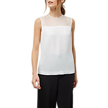 Buy Jaeger Sheer Yoke Panel Top, Ivory Online at johnlewis.com