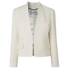 Buy L.K. Bennett Rosie Crop Jacket, Cream Online at johnlewis.com