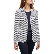 Buy Jaeger Striped Jersey Blazer, Ivory/Navy Online at johnlewis.com