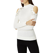 Buy Coast Fallon Cold Shoulder Knit Top, Ivory Online at johnlewis.com