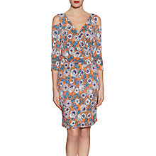 Buy Gina Bacconi Mixed Flower Print Jersey Dress, Orange Online at johnlewis.com