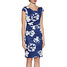 Buy Gina Bacconi Brushed Flower Scuba Dress, Navy Online at johnlewis.com