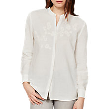 Buy Mint Velvet Embroidered Shirt, Ivory Online at johnlewis.com