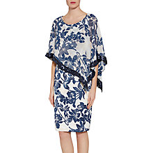 Buy Gina Bacconi Printed Satin Dress With Chiffon Cape, Navy/Nude Online at johnlewis.com