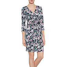 Buy Gina Bacconi Flower Print Jersey Dress With Sequins, Navy Online at johnlewis.com
