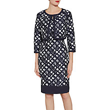 Buy Gina Bacconi Jacquard Dress And Jacket, Spring Navy Online at johnlewis.com