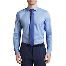 Buy HUGO by Hugo Boss C-Gordan Houndstooth Regular Fit Shirt, Light Blue Online at johnlewis.com