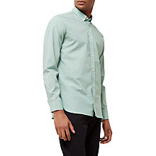 Buy Jaeger Straw Print Regular Shirt, Green Online at johnlewis.com