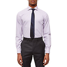 Buy Jaeger Stripe Regular Fit Shirt, Pink Online at johnlewis.com