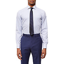 Buy Jaeger Bold Stripe Regular Fit Cotton Shirt, Blue Online at johnlewis.com