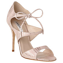 Buy L.K. Bennett Karlie Tie Up Stiletto Sandals, Blush Online at johnlewis.com