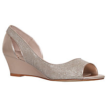 Buy Carvela Gip Occasion Peep Toe Wedge Heeled Sandals, Metal Comb Online at johnlewis.com