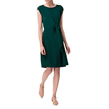 Buy L.K. Bennett Solar Heavy Silk Dress, Green Online at johnlewis.com