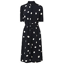 Buy L.K. Bennett Pernila Spot Print Silk Dress, Sloane Blue/White Online at johnlewis.com