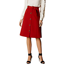 Buy Karen Millen Button Down Midi Skirt, Tan Online at johnlewis.com