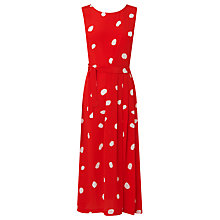 Buy L.K. Bennett Penny Silk Dress, Red Online at johnlewis.com