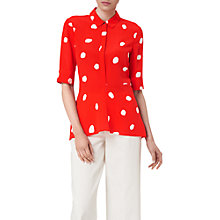 Buy L.K. Bennett Leia Spot Print Silk Woven Top Online at johnlewis.com