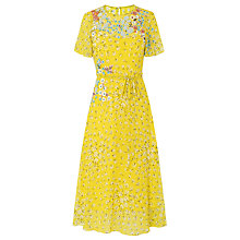 Buy L.K. Bennett Lela Silk Dress, Yellow Online at johnlewis.com