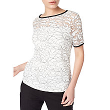 Buy Precis Petite Bethan Mono Lace Top, White/Multi Online at johnlewis.com