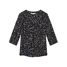 Buy Gerard Darel Clara Print Blouse, Black/Multi Online at johnlewis.com