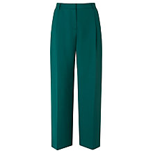 Buy L.K. Bennett Elma Pleat Wide Leg Trousers, Green Online at johnlewis.com