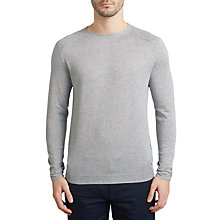 Buy BOSS Green Reba Cotton Wool Jumper, Light Pastel Grey Online at johnlewis.com