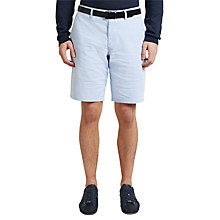 Buy BOSS Green C-Clyde2-6 Micro Stripe Chino Shorts, Medium Blue Online at johnlewis.com