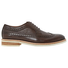 Buy Bertie Pusha Leather Brogues, Brown Online at johnlewis.com