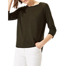 Buy Jigsaw Cotton Slub Pointelle Jumper Online at johnlewis.com