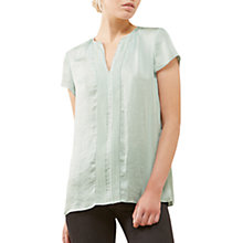 Buy Jigsaw Crocus Drape Top, Morning Sky Online at johnlewis.com