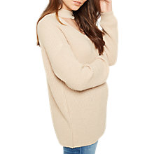 Buy Miss Selfridge Choker Jumper, Camel Online at johnlewis.com