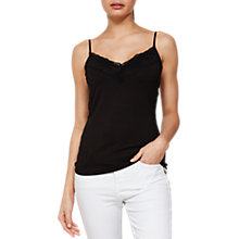 Buy Mint Velvet Jersey Lace Cami Online at johnlewis.com