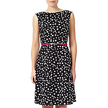 Buy Adrianna Papell Petite Sleeveless Cotton Shift Dress, Black/Ivory Online at johnlewis.com