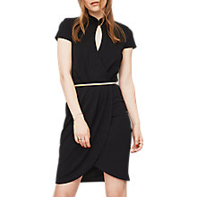 Buy Miss Selfridge Mandarin Neck Pleat Dress Online at johnlewis.com